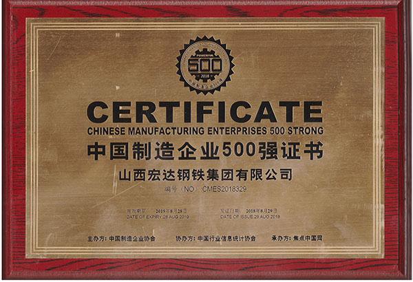 中国制造企业500强